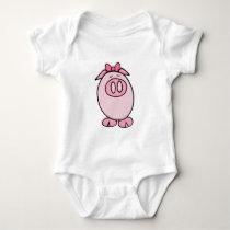 Cute Piggy Baby Bodysuit