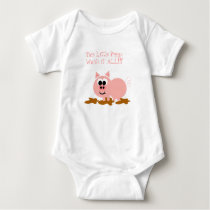 Cute Piggy   Baby Bodysuit