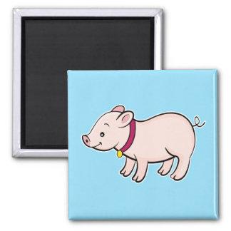 Cute Piggy Blue Magnet
