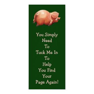 Cute Piggy BOOK MARK: Original Art: Rhyme Card