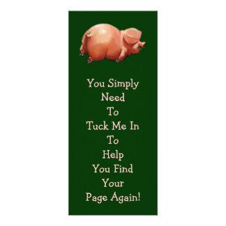 Cute Piggy BOOK MARK Original Art Rhyme Custom Invitations