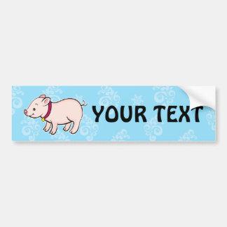 Cute Piggy Bumper Sticker