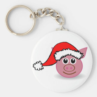Cute piggy button Key Ring Keychain