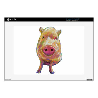 "Cute Piggy by Robert Phelps 15"" Laptop Skins"