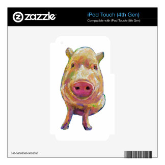 Cute Piggy by Robert Phelps Decal For iPod Touch 4G