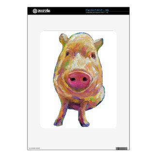 Cute Piggy by Robert Phelps Skin For The iPad