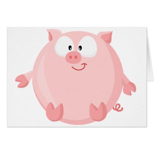 Cute piggy card