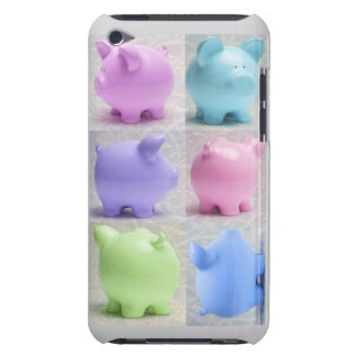Cute Piggy Collage Barely There iPod Case
