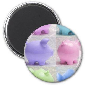 Cute Piggy Collage Magnet