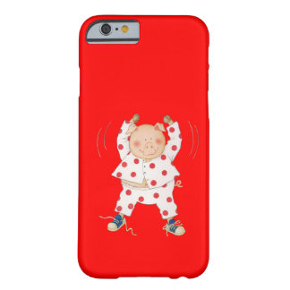 Cute Piggy Exercising Barely There iPhone 6 Case