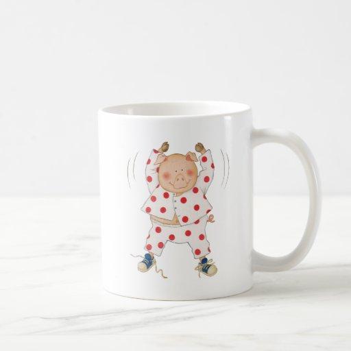 Cute Piggy Exercising Coffee Mug