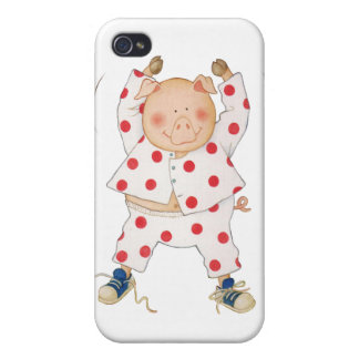 Cute Piggy Exercising iPhone 4/4S Covers