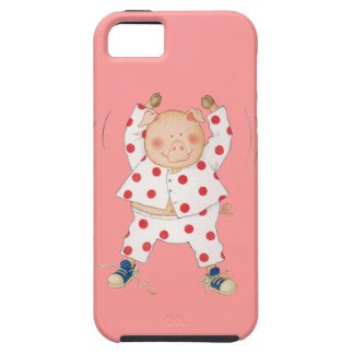 Cute Piggy Exercising iPhone 5 Cover