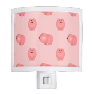 Cute Piggy Pattern: Choose Your Own Background Night Light