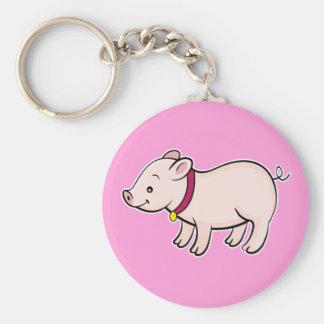 Cute Piggy Pink Keychain