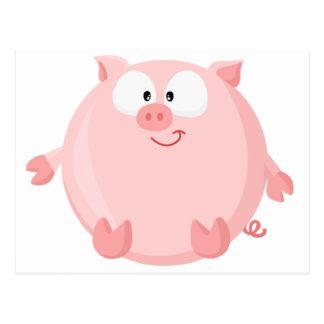 Cute piggy postcard