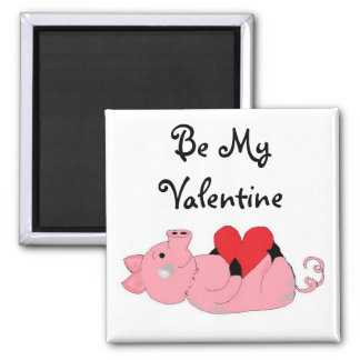 Cute Piggy Valentine Refrigerator Magnet