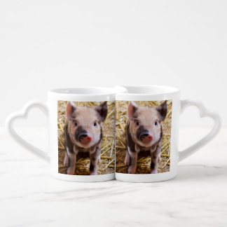 Cute Piglet Couples Coffee Mug