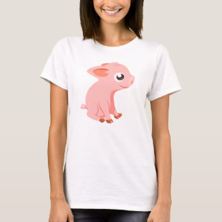 cute piglet farm animals tshirt