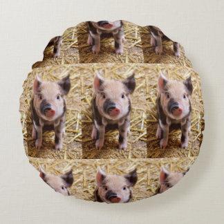 Cute Piglet Round Pillow