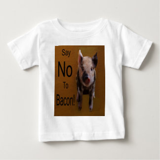 """Cute Piglet """"Say No To Bacon"""" Baby T-Shirt"""