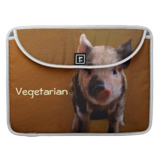 Cute Piglet 'Say no to bacon' Sleeve For MacBook Pro
