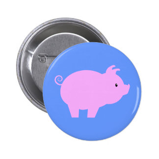 Cute Piglet Silhouette Buttons