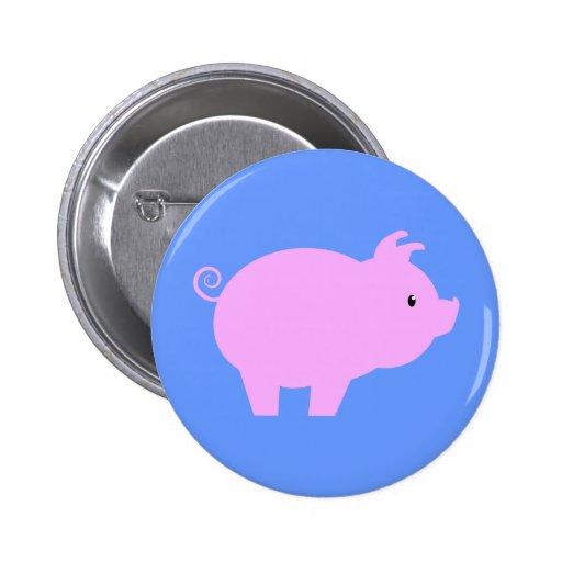 Cute Piglet Silhouette Buttons