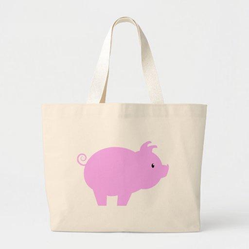 Cute Piglet Silhouette Jumbo Tote Bag