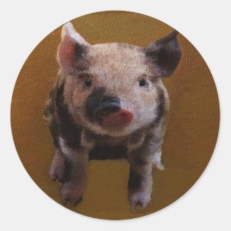Cute piglet stickers