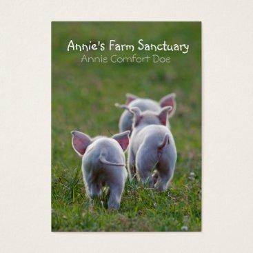 Professional Business Cute Piglets Farm Sanctuary Business Card