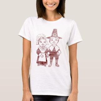 Cute Pilgrim Couple Thanksgiving Shirt