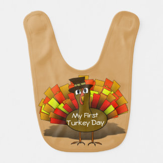 Cute Pilgrim Turkey Bib