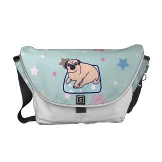 Cute Pillow Pug Courier Bag