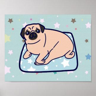 Cute Pillow Pug Poster