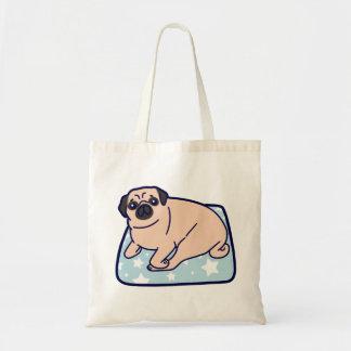 Cute Pillow Pug Tote Bag