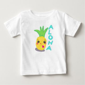 Cute Pineapple says Aloha