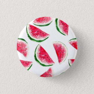 Cute Pineapple & Watermelon Pattern Pinback Button