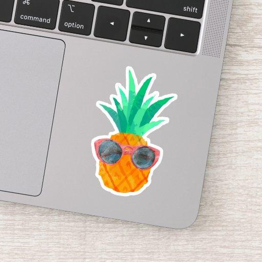 Cute Pineapple Wearing Sunglasses Sticker