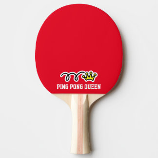 Cute ping pong queen crown paddle for table tennis ping pong paddle