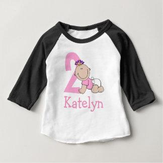 Cute Pink 2nd Birthday Baby T-Shirt