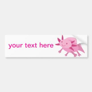 Cute Pink Albino Axolotl Bumper Sticker