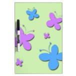 Cute Pink and Blue Butterflies Dry-Erase Whiteboard