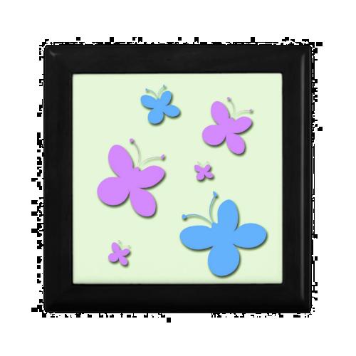 Cute Pink and Blue Butterflies Gift Box