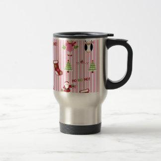Cute Pink and Green Christmas Collage Mug