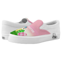 Cute Pink and Green Easter Pattern Shoes