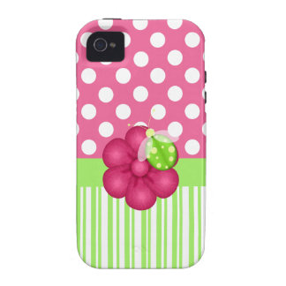 Cute Pink and Green Girlie iPhone Case iPhone 4 Case