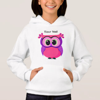 Cute pink and lilac baby owl hoodie