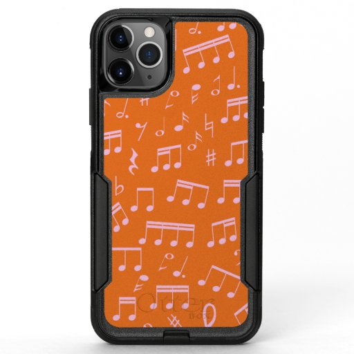 Cute Pink and Orange Music Notes Pattern OtterBox Commuter iPhone 11 Pro Max Case