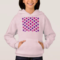 Cute Pink and Purple Basketball Pattern Hoodie